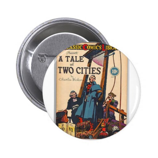 Tale of Two Cities Comic Pinback Button