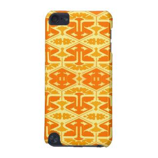 Talent d'art déco - jaune et orange coque iPod touch 5G