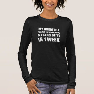 Talent Watching Television Long Sleeve T-Shirt