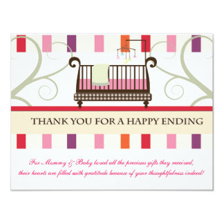 """Tales from Crib Thank You Card 4.25"""" X 5.5"""" Invitation Card"""