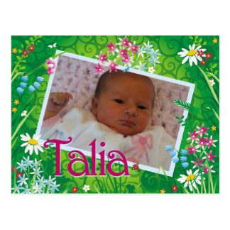 Talia Has Arrived Postcard