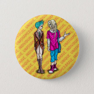 Taliah and Erik 2 Inch Round Button