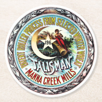 Talisman Winter Wheat Round Paper Coaster