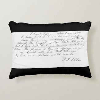 Talitha's Song lyrics Accent Pillow