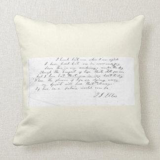 Talitha's Song lyrics Throw Pillow