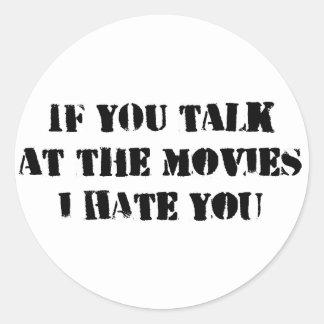 TALK AT THE MOVIES sticker