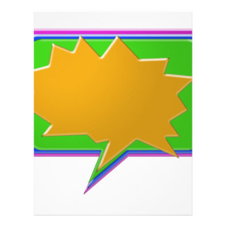 TALK Bubble Add text or image Editable Template Customized Letterhead