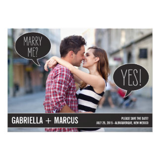 Talk Bubbles Wedding Save The Date Cards Invite