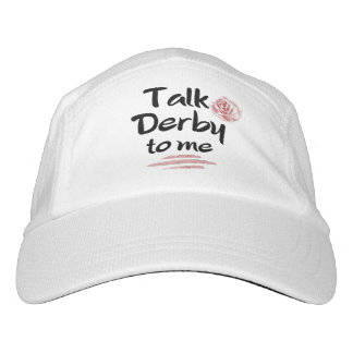 Talk Derby to me Red Rose Watercolor Hat