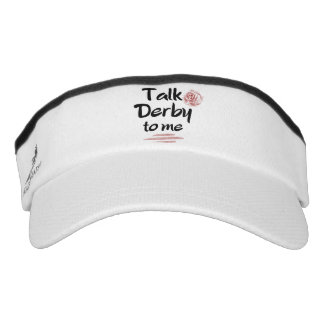 Talk Derby to me Red Rose Watercolor Visor