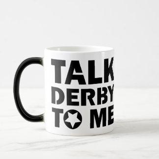 Talk Derby to Me, Roller Derby Girl Design Magic Mug
