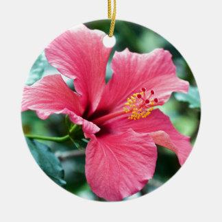 TALK HIBISCUS FLOWER CERAMIC ORNAMENT