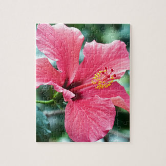 TALK HIBISCUS FLOWER JIGSAW PUZZLE