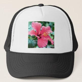 TALK HIBISCUS FLOWER TRUCKER HAT