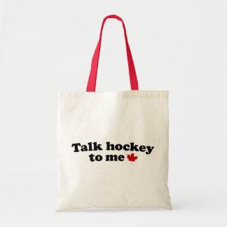 Talk Hockey To Me Tote Bag