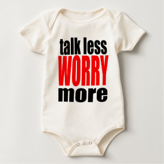 talk less more worry worrying worried family mothe baby bodysuit