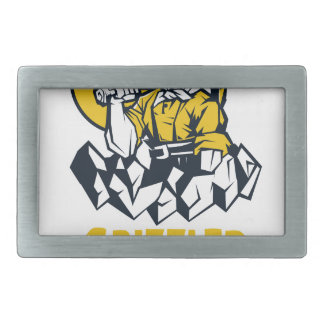 Talk Like A Grizzled Prospector Day Belt Buckle