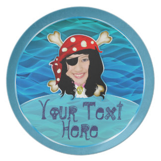 Talk Like a Pirate Day photo plate for girls