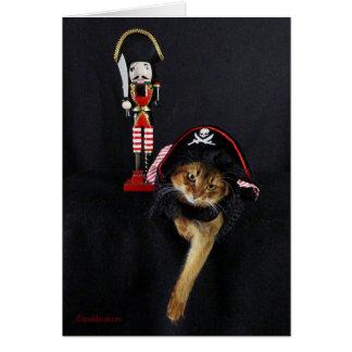 Talk Like a Pirate Day Somali Cat Card