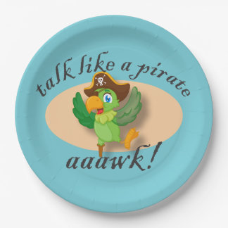 Talk Like A Pirate Parrot Paper Plate