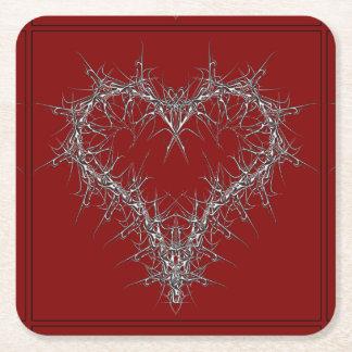talk love square paper coaster