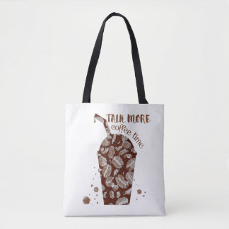 Talk More - Coffee Time (All-Over-Print) Tote Bag