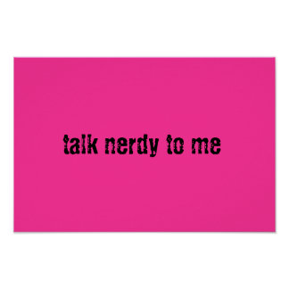 Talk Nerdy Poster