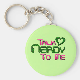 Talk Nerdy To Me Circuit Basic Round Button Keychain