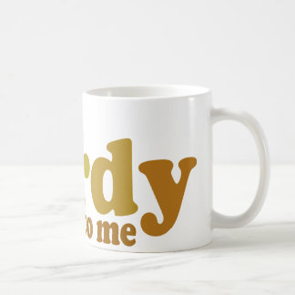 Talk nerdy to me Cool retro Classic White Coffee Mug