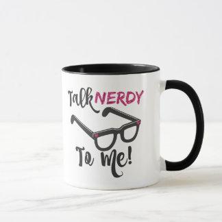 Talk Nerdy To Me Pink Novelty Mug