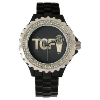 Talk of Fame101 gold lettering women's watch