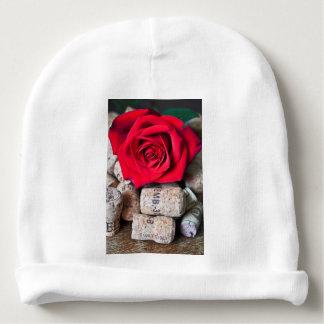 TALK ROSE with cork Baby Beanie