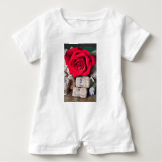 TALK ROSE with cork Baby Romper