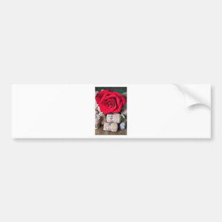 TALK ROSE with cork Bumper Sticker