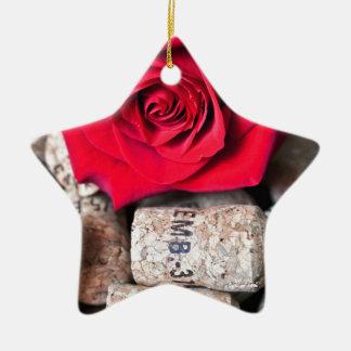 TALK ROSE with cork Ceramic Star Ornament