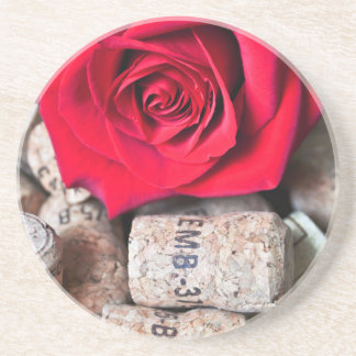 TALK ROSE with cork Coaster