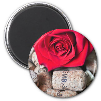 TALK ROSE with cork Magnet
