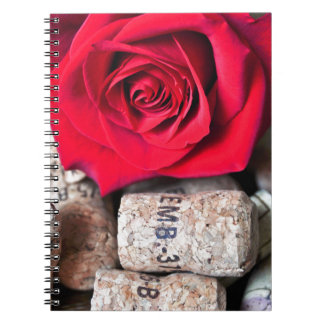 TALK ROSE with cork Notebook