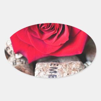 TALK ROSE with cork Oval Sticker