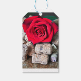 TALK ROSE with cork Pack Of Gift Tags