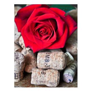 TALK ROSE with cork Postcard