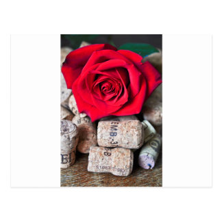 TALK ROSE with cork Postcard