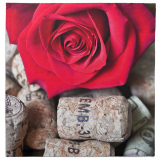 TALK ROSE with cork Printed Napkin