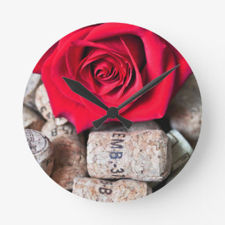 TALK ROSE with cork Round Clock