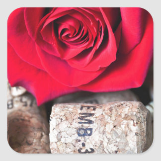 TALK ROSE with cork Square Sticker