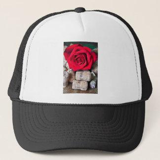 TALK ROSE with cork Trucker Hat