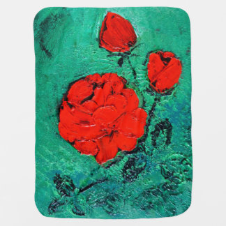 talk roses baby blanket