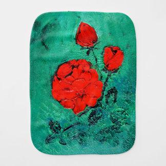 talk roses burp cloth