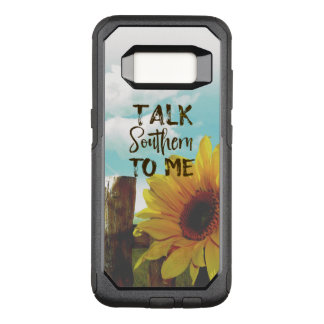 Talk Southern to Me Quote with Sunflower OtterBox Commuter Samsung Galaxy S8 Case