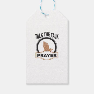 Talk the talk prayer gift tags